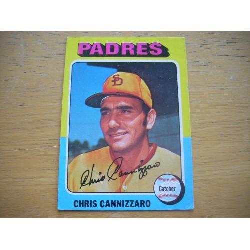 1975 Baseball Card 355 Chris Cannizzaro Padres Very Nice
