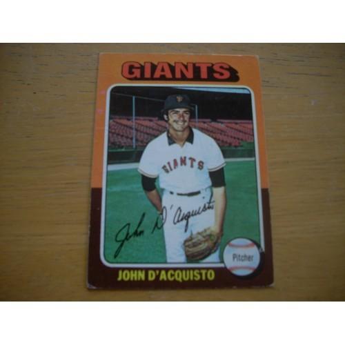 1975 Baseball Card 372 John D'Acquisto Giants Very Nice