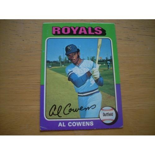1975 Baseball Card 437 Al Cowens Royals ROOKIE Very Nice