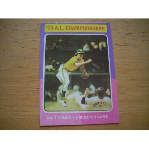 1975 Baseball Card 459 Brooks Robinson Playoffs Outstanding