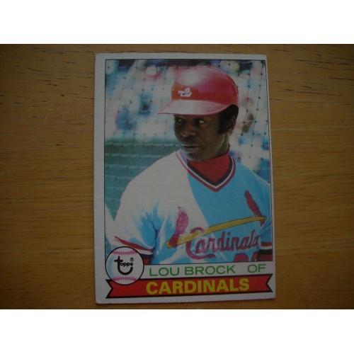 1979 Baseball Card 665 Lou Brock Cardinals Outstanding