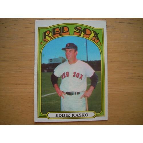 1972 Baseball Card 218 Eddie Kasko Boston Red Sox Nice Shape