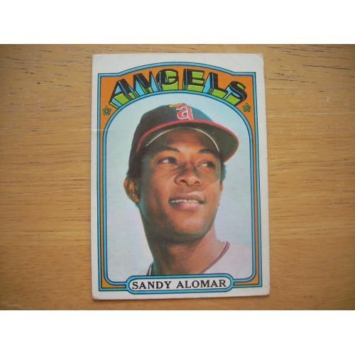 1972 Baseball Card 253 Sandy Alomar Angels Nice Shape