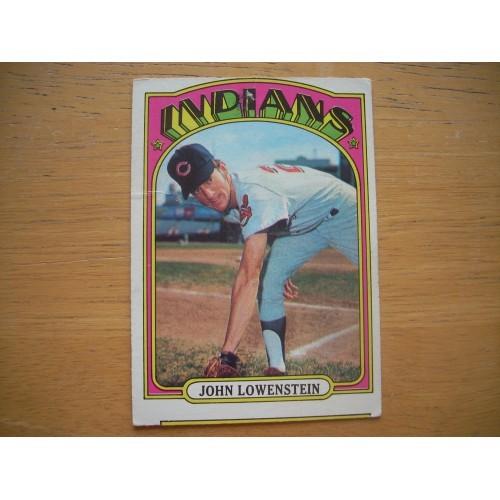 1972 Baseball Card 486 John Lowenstein Cleveland Nice Shape