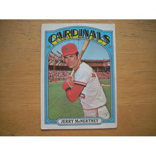 1972 Card 584 Jerry McNertney Cardinals Mid Hi # Nice Shape