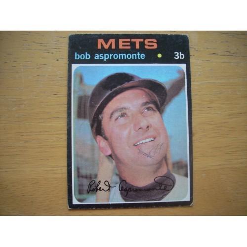 1971 Baseball Card 469 Bob Aspermonte Mets Lower Grade