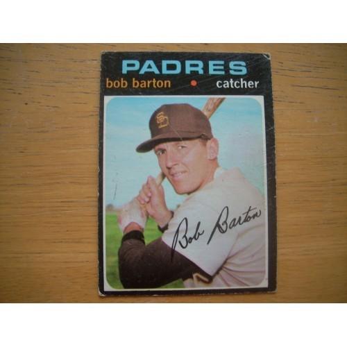 1971 Baseball Card 589 Mid Hi # Bob Barton Padres OK Shape