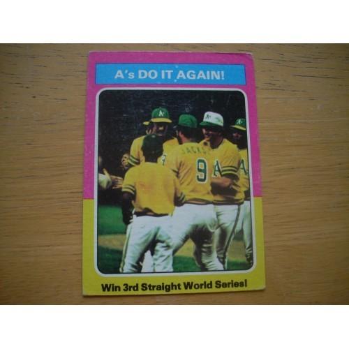 1975 466 World Series A's Reggie Jackson Rollie Fingers Nice