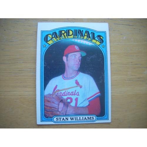 1972 Baseball Card 9 Stan Williams Cardinals Very Nice