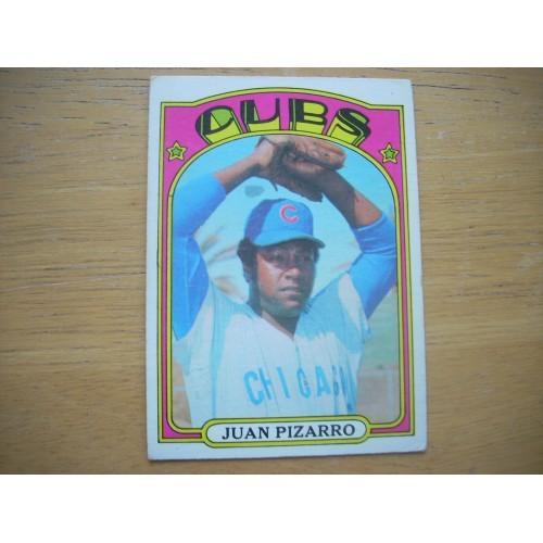 1972 Baseball Card 18 Juan Pizarro Chicago Cubs Nice Shape