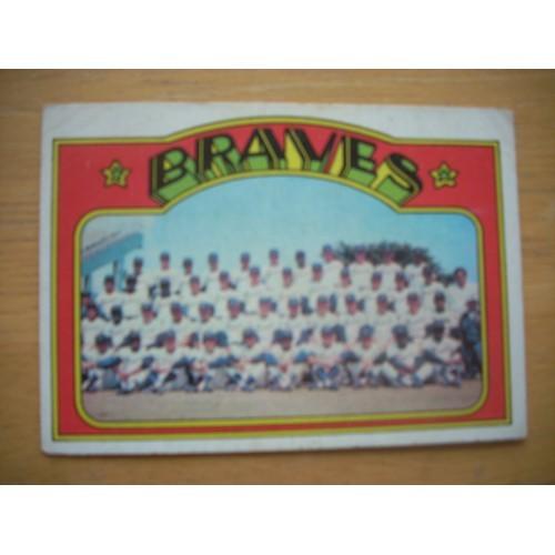 1972 Baseball Card 21 Braves Team Nice Shape Hank Aaron