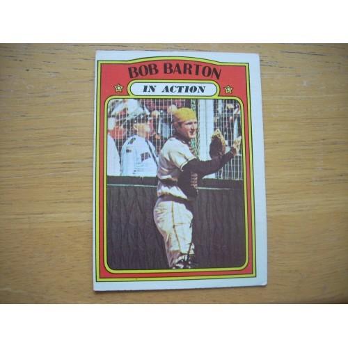 1972 Baseball Card 40 Bob Barton In Action Padres Outstanding
