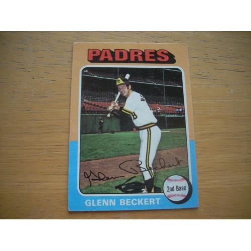 1975 Baseball Card 484 Glenn Beckert Cubs Padres Nice Shape