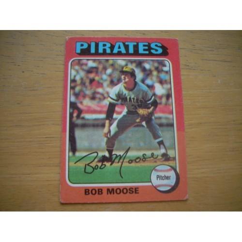 1975 Baseball Card 536 Bob Moose Pirates Nice Shape