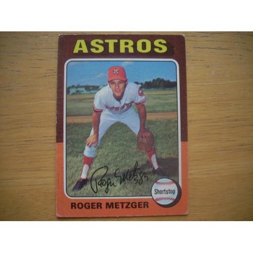 1975 Baseball Card 541 Roger Metzger Astros Nice Shape