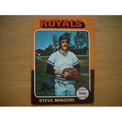 1975 Baseball Card 544 Steve Mingori Royals Very Nice Shape