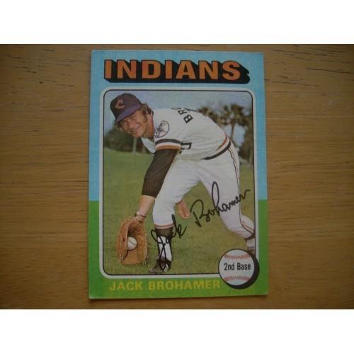 1975 Baseball Card 552 Jack Brohamer Cleveland Nice Shape