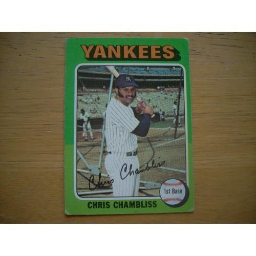 1975 Baseball Card 585 Chris Chambliss New York Yankees