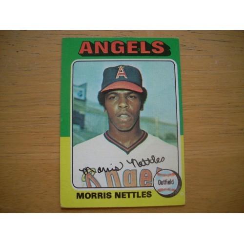 1975 Card 632 Morris Nettles Angels Rookie? Very Nice