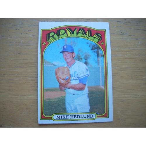 1972 Baseball Card 81 Mike Hedlund Royals Very Nice Shape