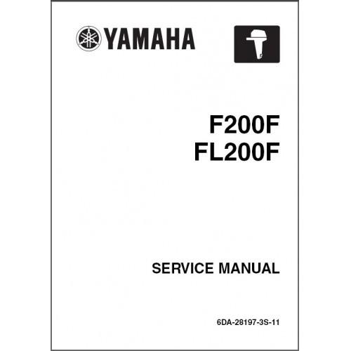 Yamaha F200 / FL200 4-Stroke Outboard Motor Service Repair