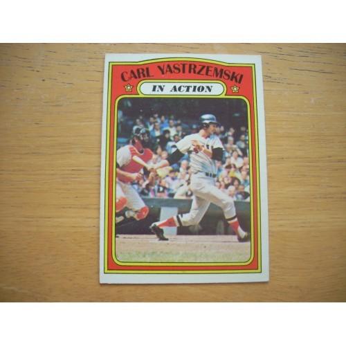 1972 Baseball Card 38 Carl Yastrzemski Boston Red Sox OK