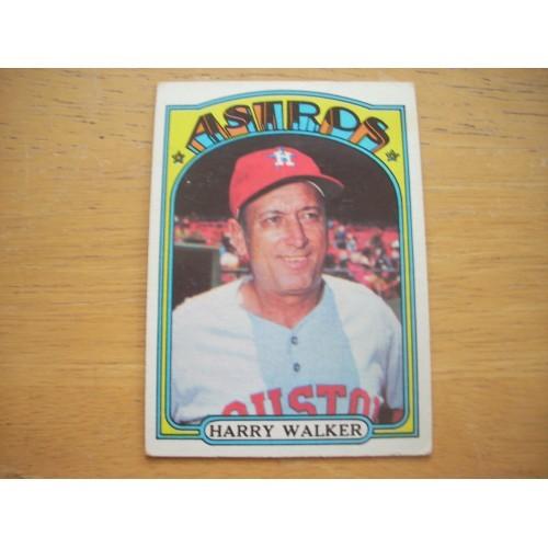 1972 Baseball Card 249 Harry Walker Houston Astros Very Nice