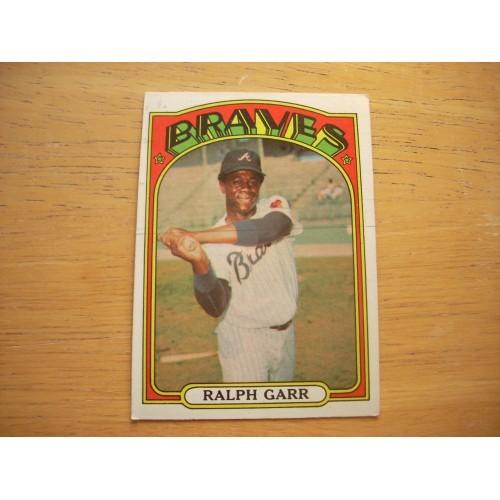 1972 Baseball Card 260 Ralph Garr Braves Outstanding