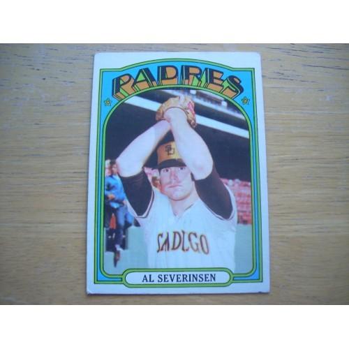 1972 Baseball Card 274 Al Severinson Padres Very Nice Shape
