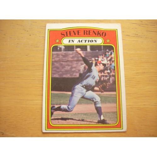 1972 Baseball Card 308 Steve Renko Expos Very Nice Shape