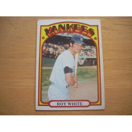 1972 Baseball Card 340 Roy White New York Yankees Very Nice