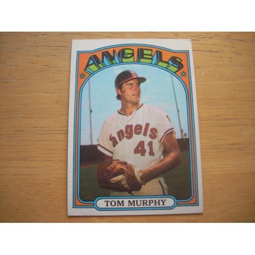 1972 Baseball Card 354 Tom Murphy Angels Outstanding Shape