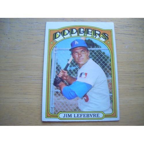 1972 Baseball Card 369 Jim Lefebvre Dodgers Very Nice Shape