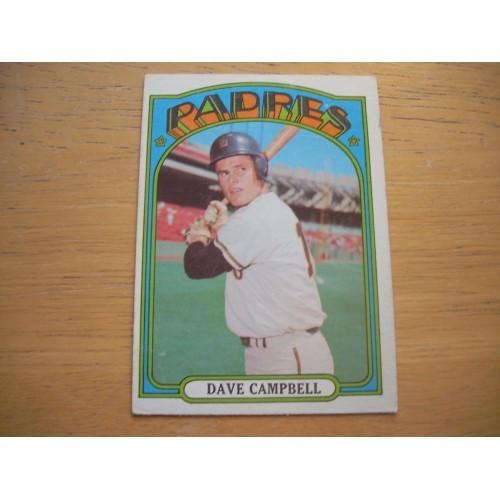 1972 Baseball Card 384 Dave Campbell Padres ESPN Very Nice