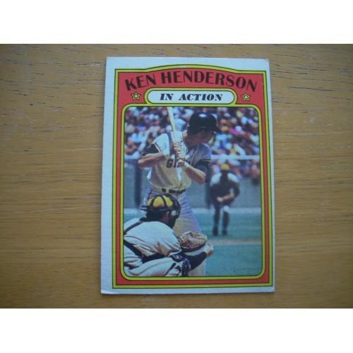 1972 Baseball Card 444 Ken Henderson Giants Very Nice Shape