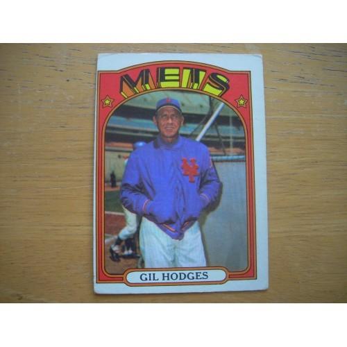 1972 Baseball Card 465 Gil Hodges New York Mets OK Shape