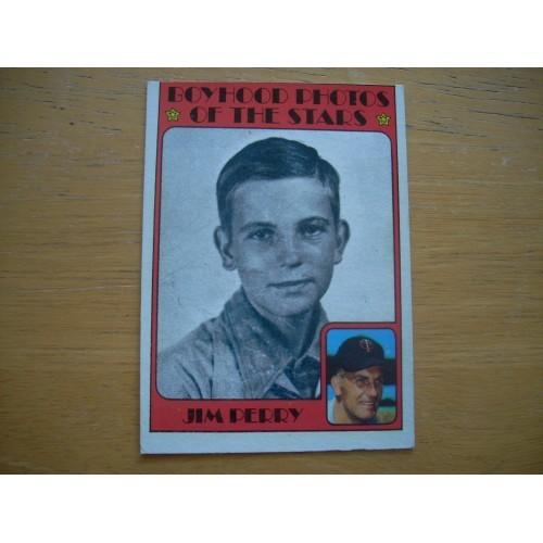 1972 Baseball Card 497 Jim Perry Twins Outstanding Shape