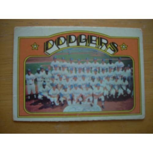 1972 Baseball Card 522 Dodgers Team Lower Grade Garvey