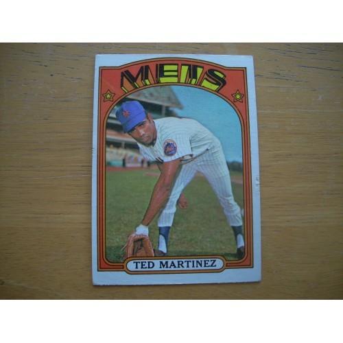 1972 Card 544 Semi Hi Ted Martinez New York Mets Nice Shape