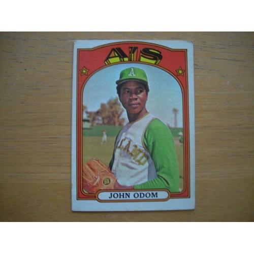 1972 Card 557 Semi Hi Number John Blue Moon Odom A's nice Shape