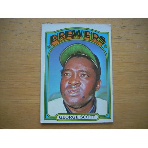 1972 Card 585 Semi Hi Number George Scott Brewer Very Nice