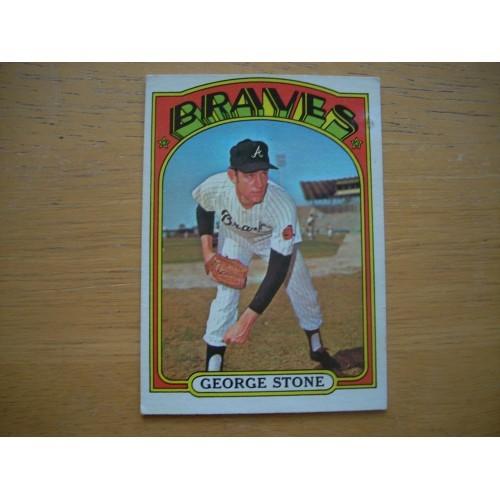 1972 Card 601 Semi High Number George Stone Braves Very Nice