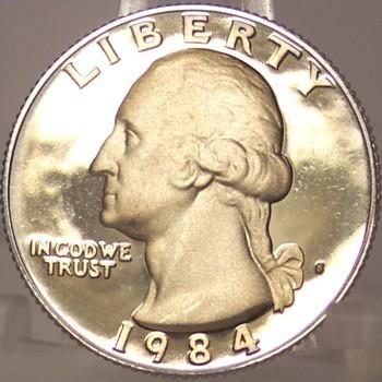 1984-S DCAM Proof Washington Quarter PF65 #872