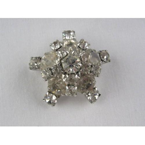 Vintage Rhinestone Studded Pin - Brooch