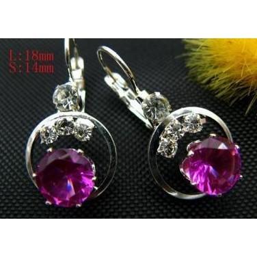 Purple Zircon Swarovki Crystal Earrings