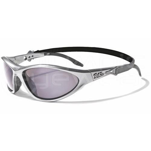 Biker Sunglasses w/Strap Motor Cycle Glasses New Silver