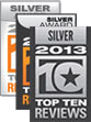 2011/2012 TopTenREVIEWS Silver Award Winning Site.