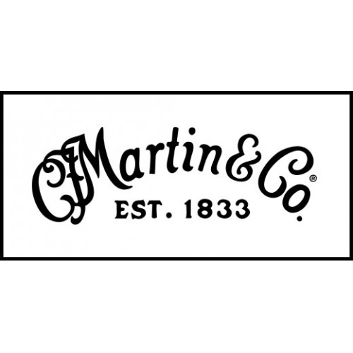 C F Martin Guitar Headstock Waterslide Decal Metallic