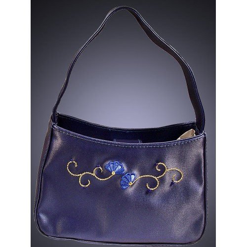 Handbag Lining Material : Avon fashion rare sapphire evening bag with fabric lining