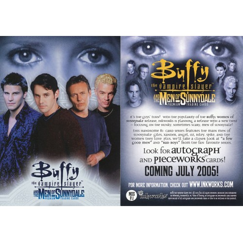BUFFY THE VAMPIRE SLAYER P-UK CONNECTIONS PROMO CARD